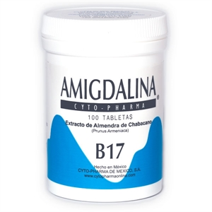 Picture of Amygdalin Tablets 500 mg,  100 Tablets per bottle