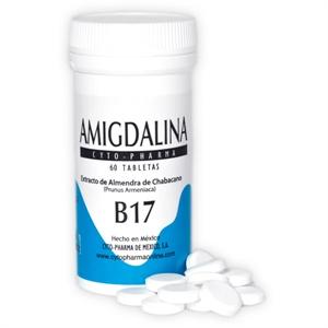 Imagen de Amigdalina Tabletas 500mg, Frasco con 60 Tabletas